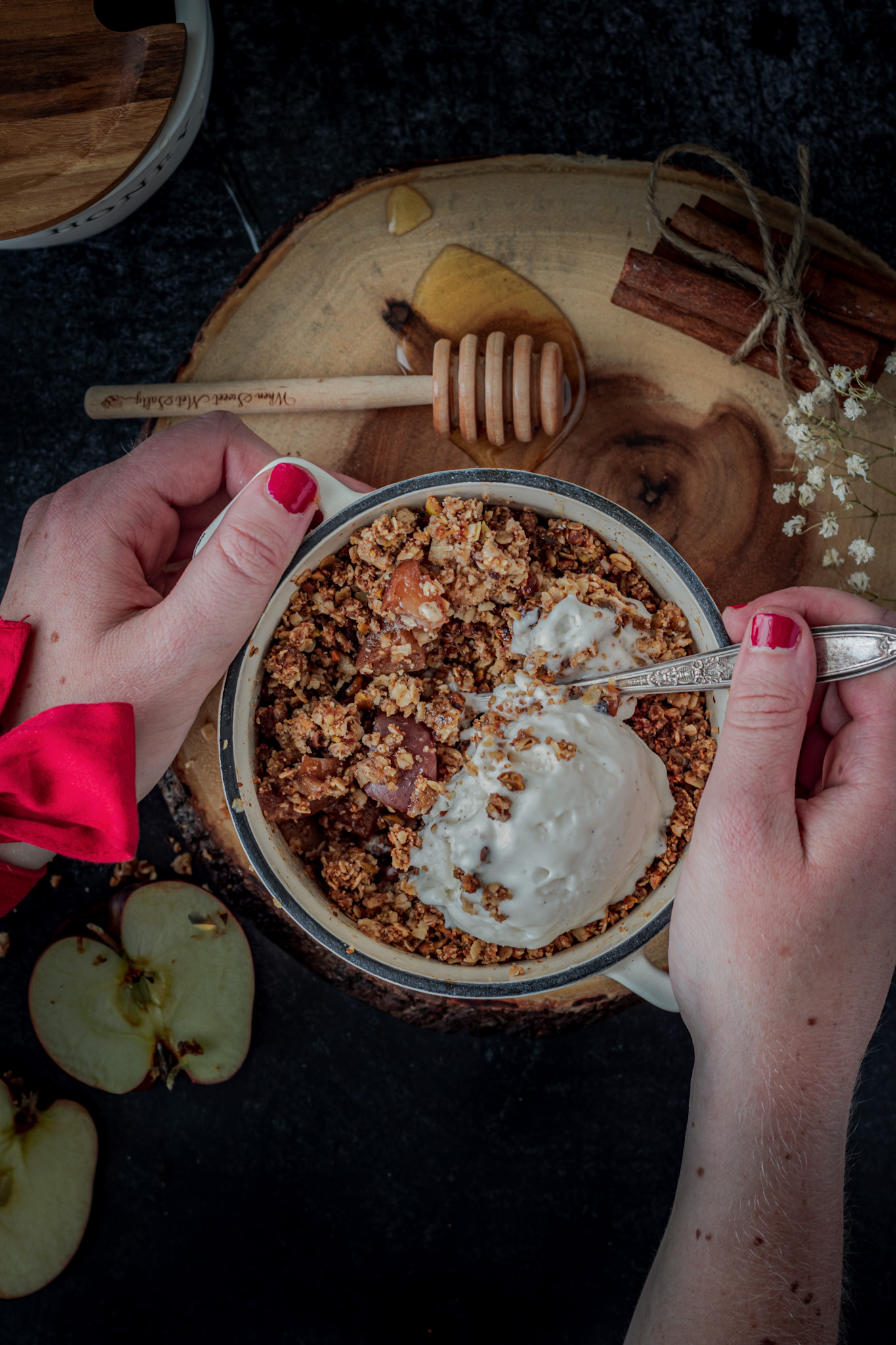 Healthy Gluten Free Apple Crisp For Two