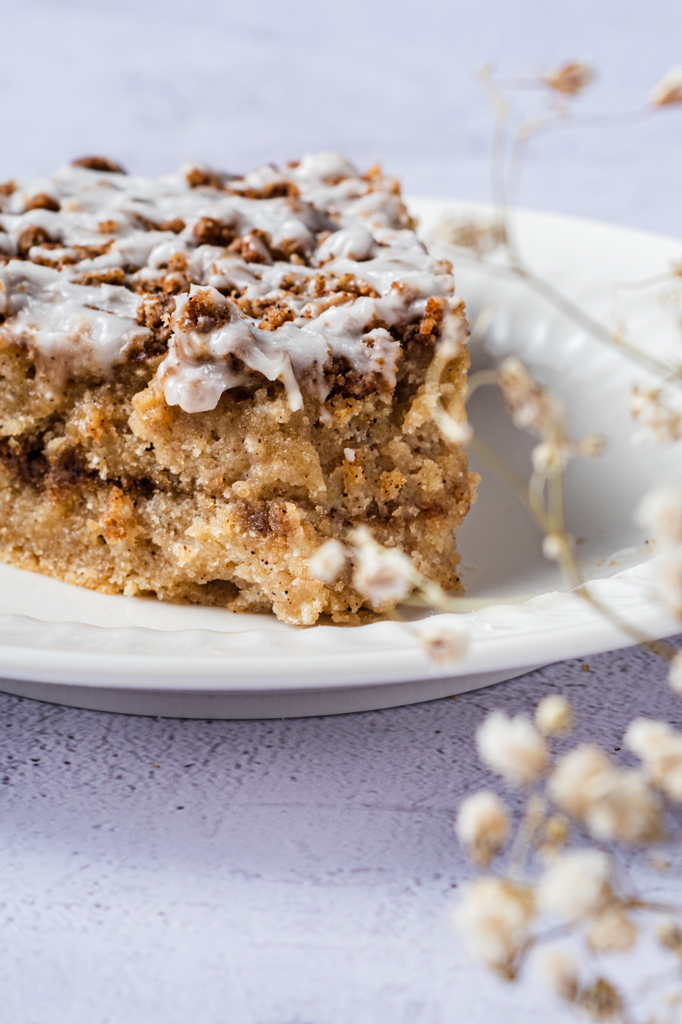 Healthy Gluten Free Banana Coffee Crumb Cake