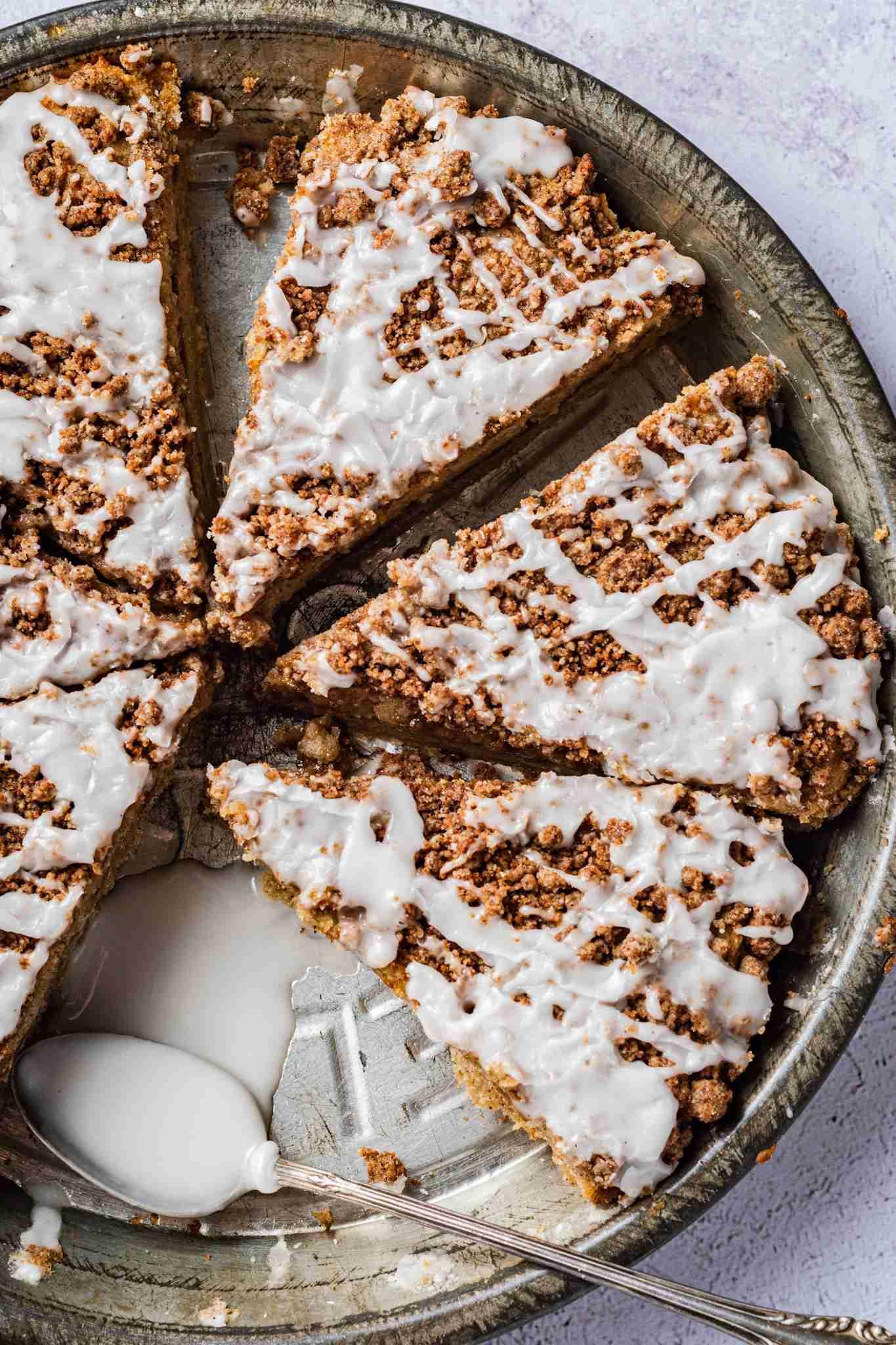 Healthy Gluten Free Banana Coffee Crumb Cake