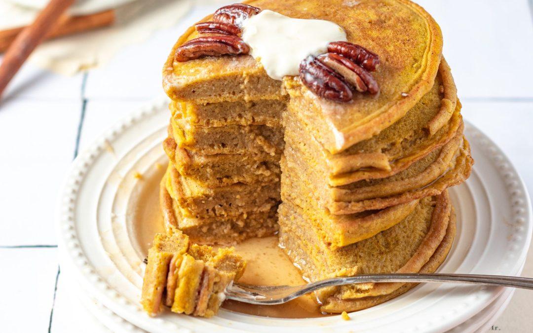 Simple Gluten Free & Dairy Free Pumpkin Pancakes