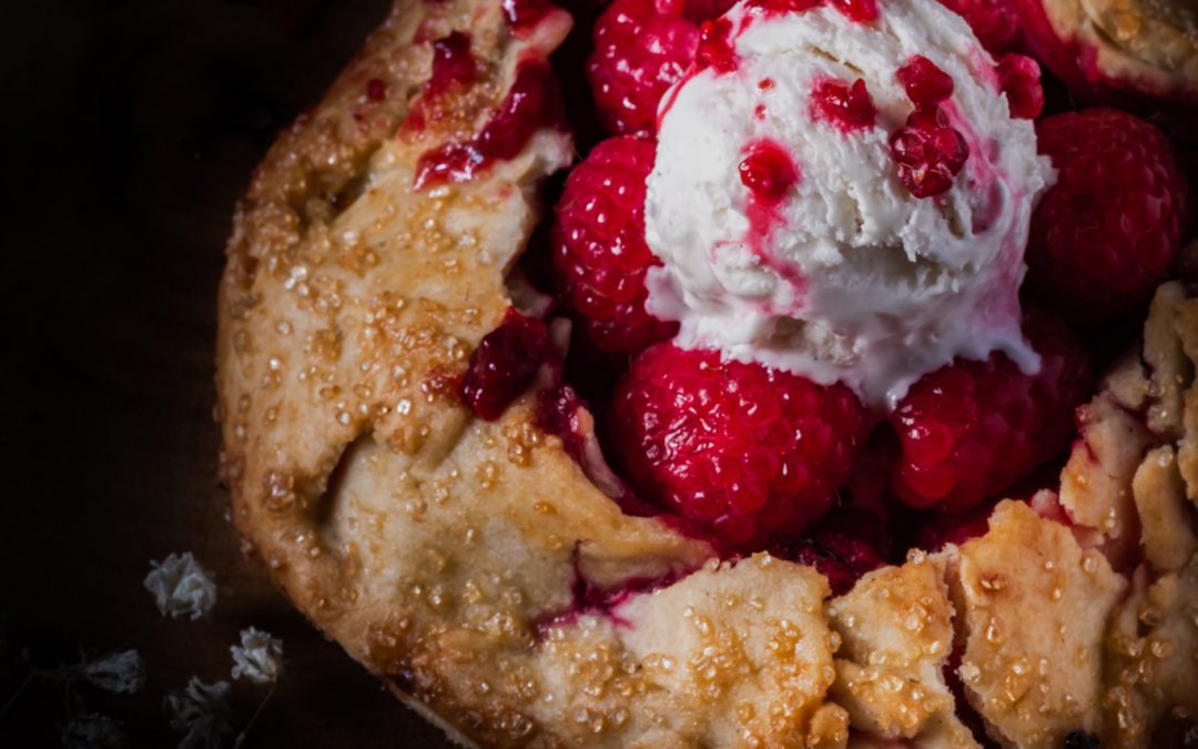 Gluten Free Raspberry Galette For One