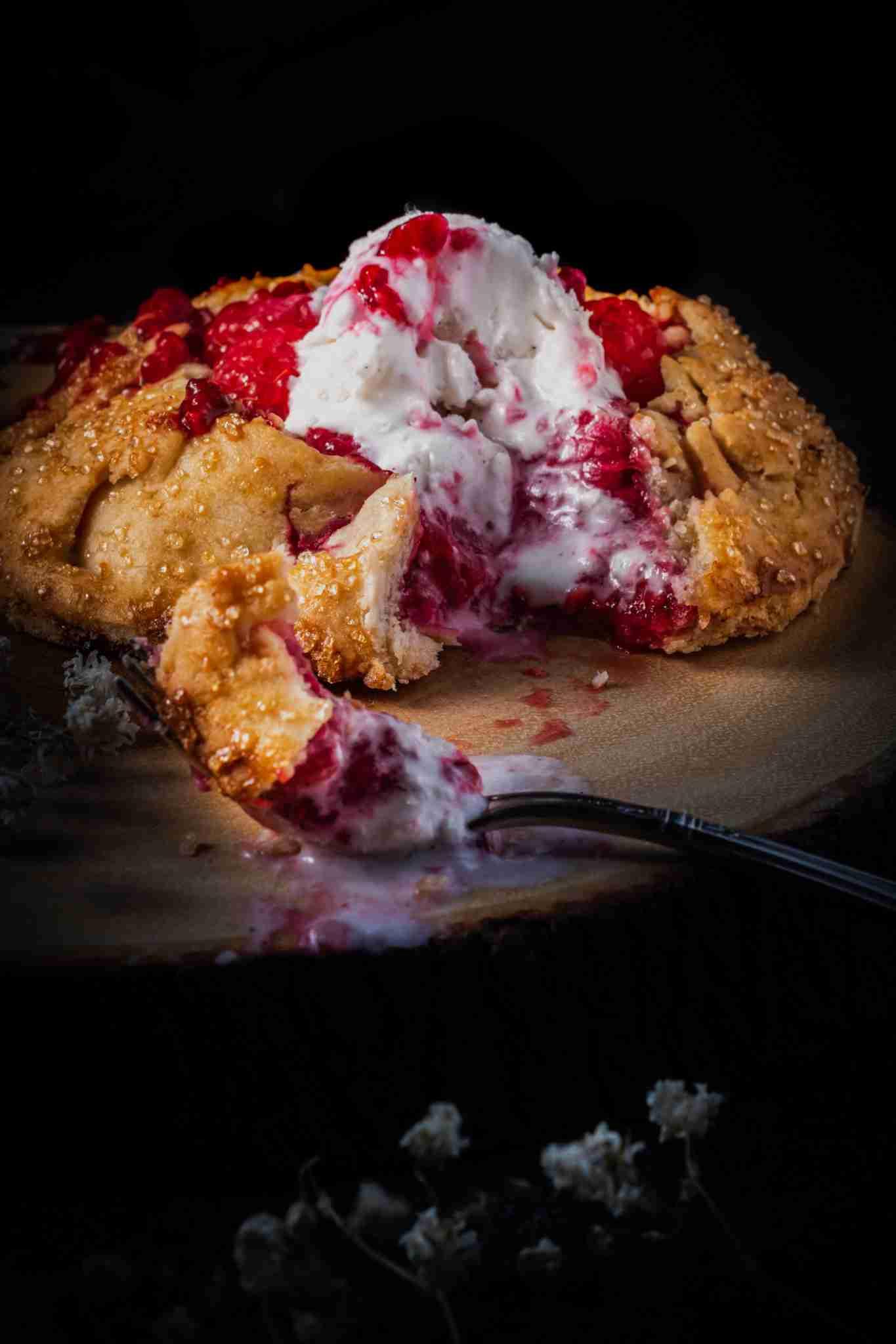 Gluten Free Raspberry Galette For One